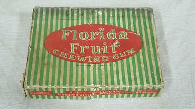 Incredible Rare Antique Dudley Gum Co Florida Fruit Chewing Gum Box #CDP