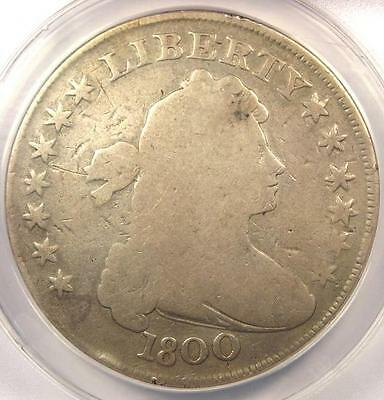 1800 Draped Bust Silver Dollar $1 - Certified ANACS VG8 Details - Rare Coin