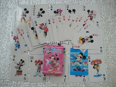 1 Deck Poker Game Girls Party Favors Minnie Mickey Mouse 54pcs Playing Cards