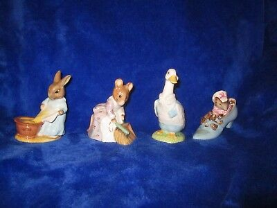 Beatrix Potter lot of 4 figurines great condition Cecily Parsley Hunca Beswick