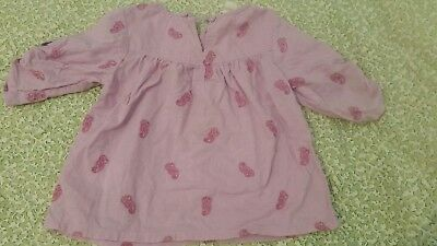 Country road baby girl smock top