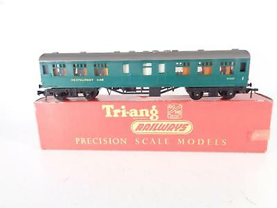 "TRIANG R229 9"" Green Restaurant Car S1007 - Trix/Dublo couplings - EXCL BOXED"