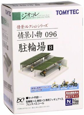 TOMIX N Scale 1/150 TOMYTEC Diorama Collection 096 Bicycle Parking B Japan new.