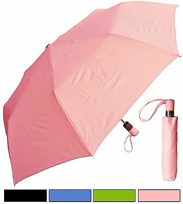 "Lot of 12 - 42"" Fashion Mini Auto-Open Umbrellas - RainStoppers, Rain/Sun UV"