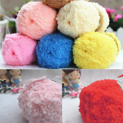 50G/Ball Soft Plush Skin Care Baby Wool Yarn Knitting Arm Knitting Hand-woven