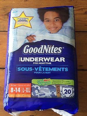 Old Vintage Camo/Skateboard L-XL GoodNites Diapers, 20 pack