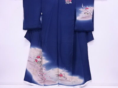 92506# Japanese Kimono / Vintage Karieba For Homongi / Outlet Item / Floral Plan