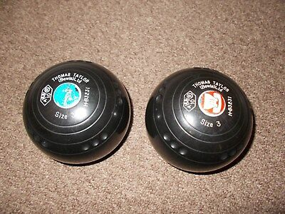 pair of thomas taylor indoor bowls size 3. Black Bedroom Furniture Sets. Home Design Ideas