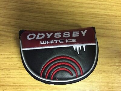Brand New Odyssey 2 Ball White Ice Putter Head Cover with magnetic clasp.
