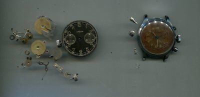 2-OLD Chronograph Watches, One Looks To Be Complete, Other Taken Apart-NICE !