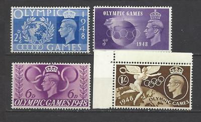 British stamps Kings of old George VI 1948 olympic games mint set old stamps gb