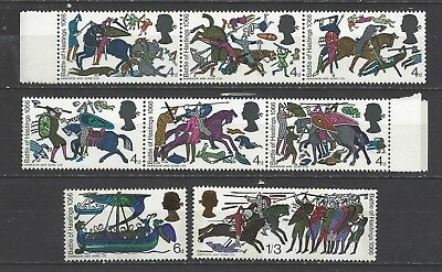 British stamps collection old stamps gb Battle of hastings full set SG705-712 GB