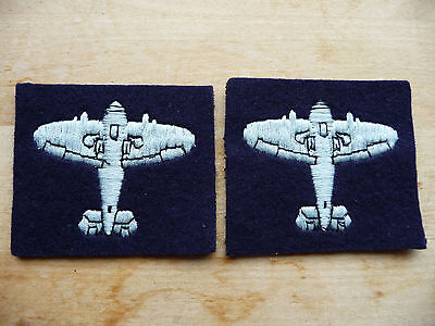 Original Royal Observer Corps Roc Spitfire Badges, Pair. New, Unissued.