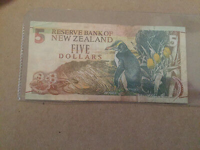 1992 Reserve Bank of New Zealand $5