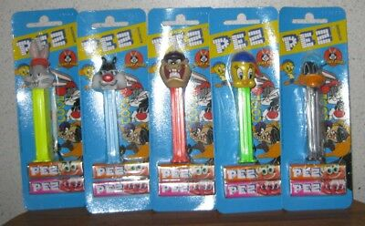 Pez Dispensers Looney Tunes Full Set Of 5 ** Mint On Card **