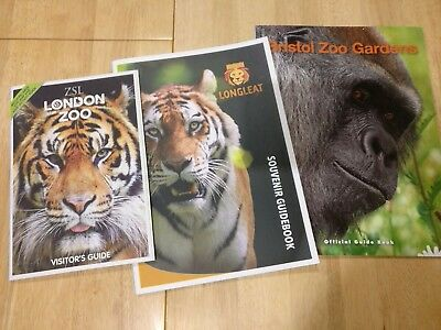 Bristol Zoo Gardens, Longleat, ZSL London Zoo official visitor guidebooks