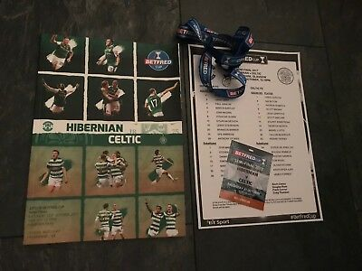 Hibs v Celtic Oct 21st 2017 Scottish League Cup Ticket Teamsheet ProgrammeMint*