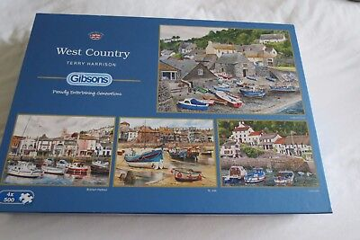 """Gibsons - """"West Country"""" 4 x 500 piece jigsaws"""
