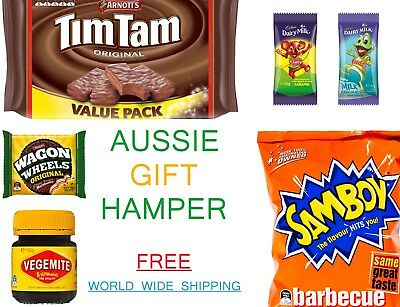Australian Gift Hamper - Tim Tams Wagon Wheels Caramello Koala Vegemite & More