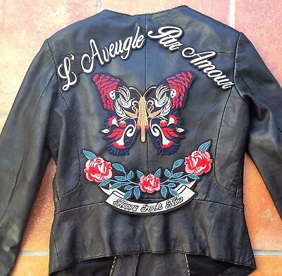 X Large Butterfly Embroidered Patch L'Aveugle Par Amour Applique Set  Iron On