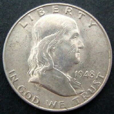 USA 50 cents/half dollar Franklin 1948D (Denver).
