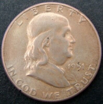 USA 50 cents/half dollar Franklin 1951S (San Francisco).