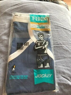 Men's Vintage Jockey Slim Guy Y Fronts Unworn Original Packaging