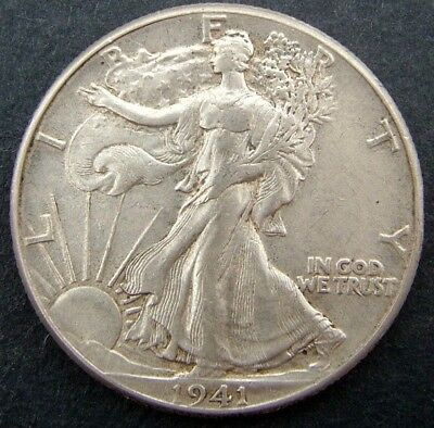 USA 50 cents/half dollar Walking Liberty 1941 (No mintmark).