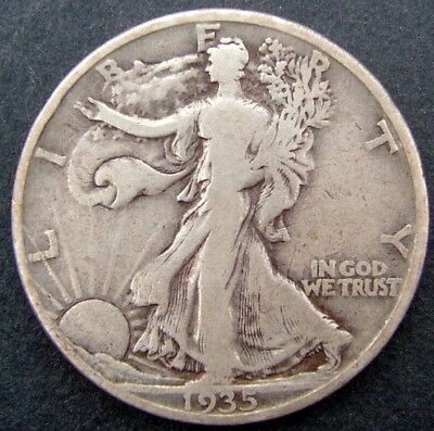 USA 50 cents/half dollar Walking Liberty 1935D (Denver).