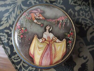 ART DECO COMPACT - Made in U.S.A. - Pat. No. - Leather Faux Crocodile Casing