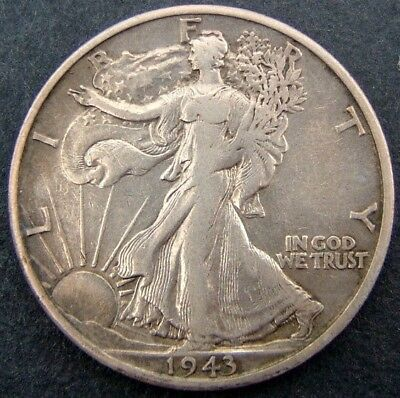 USA 50 cents/half dollar Walking Liberty 1943S (San Francisco).