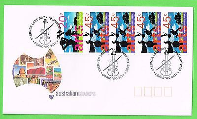 """AUSTRALIAN STAMPS"" Arts Council sterner booklet pane LAST DAY OF ISSUE P/MARKED"