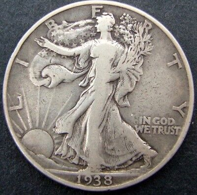 USA 50 cents/half dollar Walking Liberty 1938 (No mintmark).