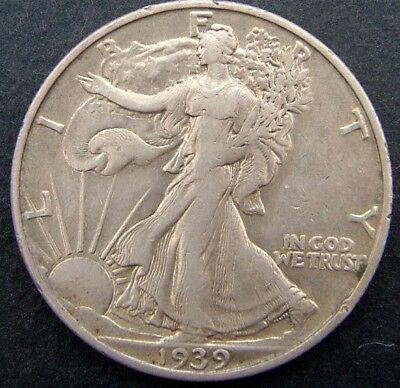 USA 50 cents/half dollar Walking Liberty 1939S (San Francisco).