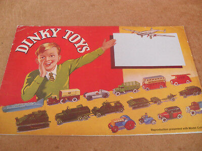 Dinky Facsimile Catalogue 1939 Uk Edition Vnmint For Age