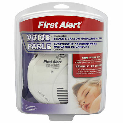 First Alert combination Smoke and Carbon Monoxide Detector Voice Warning