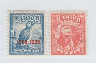 UK GB revenue fiscal cinderella stamp 1023-15 Lundy