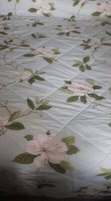 Sanderson  floral quilted double throw bedspread