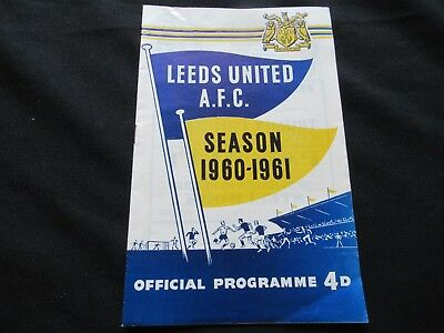 LEEDS UNITED V LUTON TOWN 1960-1961 Good+ Condition Football Programme