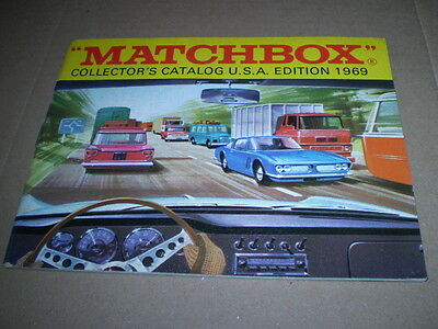 Matchbox Toy Catalogue 1969 Usa Edition  Excellent Condition For Age