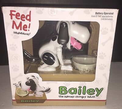 Bailey the Money-Hungry Mutt Electronic Doggy Bank-NEW