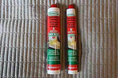 4 Pairs- Repair Care, Dry Flex Wood Repair Compound A, B- Curing Time 1 Hour