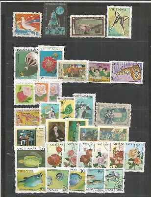 NOV 024 VIETNAM - Viet Nam Bu'u Chinh mixed selection Thematic stamps Cancelled