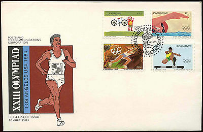 Zimbabwe 1984 Olympic Games FDC First Day Cover #C14281