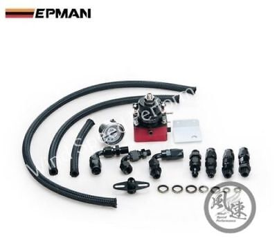 Universal Epman Adjustable Fuel Pressure Regulator Kit With Oil Gauge An6 Fit