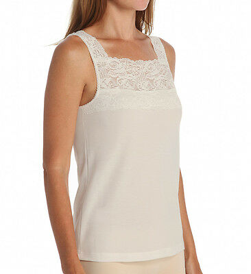 CUDDL DUDS Softech Square Neck Ivory Camisole Plus Size 1X