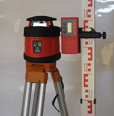 Auto Rotary Laser Level 205, Tripod, Detector and Staff