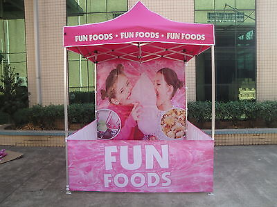 PINK FUN FOODS Marquee Gazebo TENT POPUP 2M*2M  All machines Fairy Floss popcorn