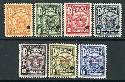 PANAMA 1924 ISSUE with SPECIMEN OVERPRINTS #234-40