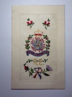 Ww1 Silk Embroidered Postcard - Royal Engineers